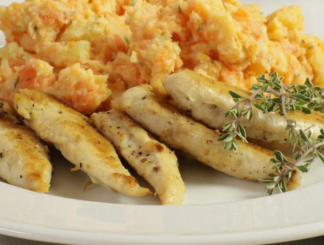 Aiguillettes de poulet à l'orange et arôme Maggi